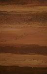 La Mélodie du sable (1), marouflage, technique mixte/ toile, 73x116 cm