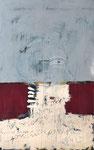 ICH UND DIE MONDSCHEINSONATE, 2019  Mischtechnik auf Leinwand, 160 x 100 cm (2500 € ohne Versand)