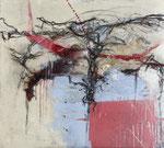 ME, MYSELF AND I – EBENEN EINES INNEREN SELBSTPORTRÄTS, Mischtechnik auf Leinwand, 100 x 90 cm (1450 € ohne Versand)