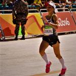 Olympische Spiele 2016: Anja kurz vor dem Zieleinlauf