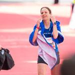 Haspa Hamburg Marathon 2016: Anja überglücklich im Ziel