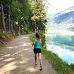 Höhentrainingslager Schweiz Juni 2017: Dauerlauf am See