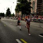 Amsterdam EM Halbmarathon 2016: Anja auf der Strecke