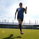 Trainingslager Monte Gordo 2016/17: Rasendiagonalen im Leichtathletik-Stadion