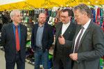 Propst Helmut Wöllenstein, Geschäftsführer Steffen Müller, Bischof Dr. Martin Hein, Geschäftsführer Dirk Trompeter