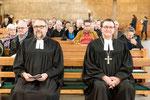 Matthias Schmidt, Propst für Oberhessen der EKHN (links) und Prof. Dr. Martin Hein, Bischof der EKKW