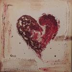 Heart, Mischtechnik, 30x30
