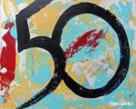 Fifty, 24x32, Acryl, Malkarton, Vorlage für Kunstkarte