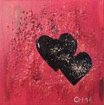 Herzschlag, Mischtechnik, 20x20, Verkauft