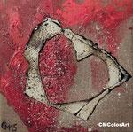 heartbeat, Mischtechnik, 20x20