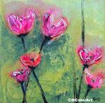 Les tulipes, Mischtechnik, 30x30, verkauft