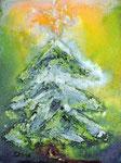 Weihnachten 2014, Malkarton, Vorlage für Kunstkarte