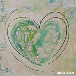 Green heart, 40x40, Acryl, Privat