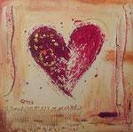 Heart II, Mischtechnik, 30x30