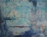 Fata morgana, 40x50, Acrylcollage, Collage