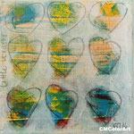 little hearts 13x13, Acryl, verkauft