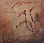 Elan, 50x50, Acrylcollage