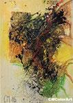 Frühling 1, 13x18, Acrylcollage, nicht verkäuflich
