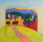 Toskana, Acrylglas, 70x70, Verkauft