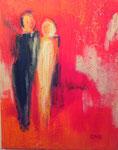 Herzschlag, Acrylcollage,40x50