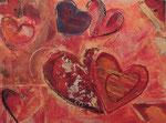 Lovebeat, Malkarton, Vorlage für Kunstkarte