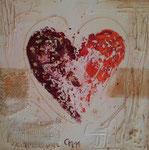 Heart II, Mischtechnik, 30x30, Privatbesitz