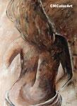 la mujer, Mischtechnik, 60x80 XL, verkauft