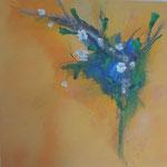 Frühling, 60x60, Acrylcollage