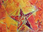 Sternenhimmel, 40x50, Malkarton, Vorlage für Kunstkarte