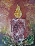 Weihnachten 2014/2, Malkarton, Vorlage für Kunstkarte