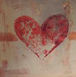 Heart, Mischtechnik, 70x70