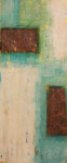 Gegenspiel, Acryl mit Rost, 25x58