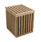 HoPstiBox Cube braun imprägniert / schwarz