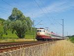 Der derzeitige Starzug auf der Rheinstrecke ist IC 119 mit seiner planmäßigen 103. Am 07. Juni 2014 ist es Aufgabe der 103 113, den Zug von Münster bis Stuttgart zu ziehen.