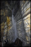 Grotta La Zebra: pozzo cascata