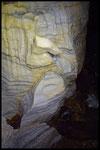La Zebra: forme d'erosione nel marmo bianco