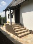 Stufenplatten Verlegung