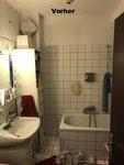 Badezimmersanierung vorher