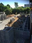 Schalsteine Betonierarbeiten