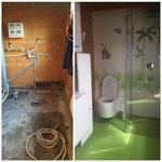 Badezimmersanierung in Gartenhaus