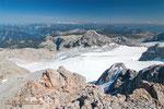 Gipfelausblick Richtung Dachsteingletscher
