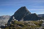 Steinmanndl am Wurmkopf mit Blick zurück zur Schönfeldspitze