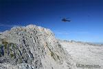 Hubschrauber in unmittelbarer Nähe