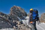 Der Gipfel zum Greifen nah, nur noch die Querung des Mecklenburgerbandes und dann in den Nordwandsteig