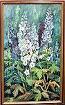 Blumenbild mit Rittersporn