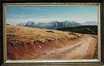 Blick vom Rittner Horn zu den Dolomiten