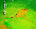 Il sogno  (Biancograt) misto su tela 40 x 50 -2012
