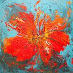 Hibiscus (mista su tela) 80x80 - 2013