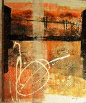 Sunnibergbrücke (mista su tela) 40 x 50 - 2012