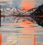 Flüela (mista su tela) 30x30 - 2016 collezione privata